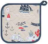 Fish & Ships Potholder