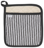 Narrow Stripe Black Superior Potholder