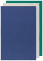 Navy/Lunar/Emerald Floursack Dishtowels <br> Set of 3