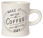 Better With Coffee Diner Mug