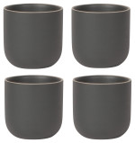Orb Teacups Matte Black <br> Set of 4