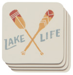 Lake Life Cork-Backed Coaster Set