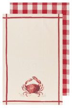 Crab Dishtowels Set/2