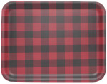 Buffalo Check Willow Veneer Rectangular Tray