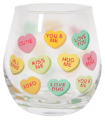 Sweet Hearts Wine Glass