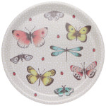Fly Away Willow Veneer Round Tray
