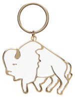 Stay Wild Buffalo Keychain
