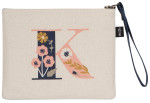 Monogram K Zipper Pouch