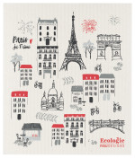 Paris Je Taime Ecologie Swedish Sponge Cloth