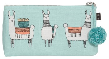 Llamarama Pencil Cosmetic Bag