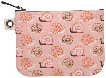 Small World Large Zipper Pouch