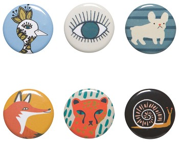 Buttons - My Friends & Eye <br> Set of 48 Assorted