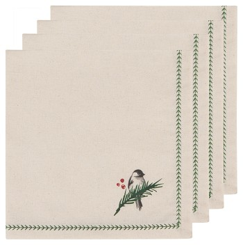Forest Birds Printed Napkins Set of 4