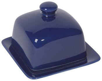 Navy Square Butter Dish