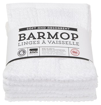 White Barmops Small <br> Set of 6