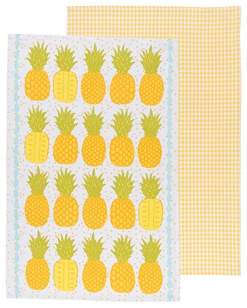 Pineapples Dishtowels <br> Set of 2