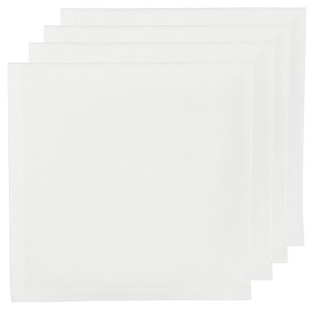 White Renew Napkins <br> Set of 4