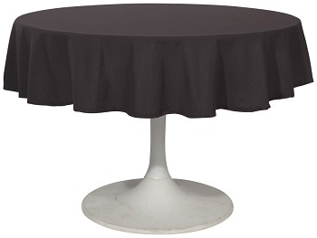 Black Renew Tablecloth <br> 60 inch round