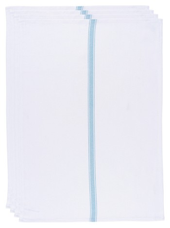 Brooklyn Stripe Dishtowel Turquoise <br> Set of 4