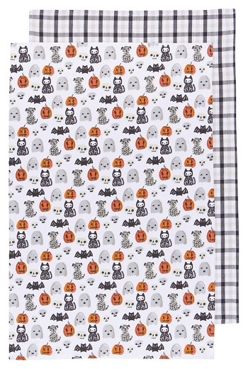 Happy Howloween Dishtowels <br> Set of 2