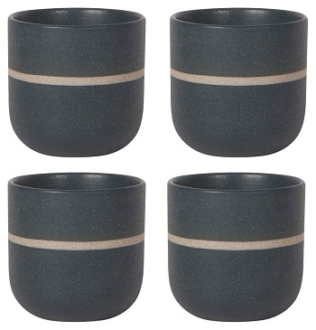 Orb Teacups Navy <br> Set of 4