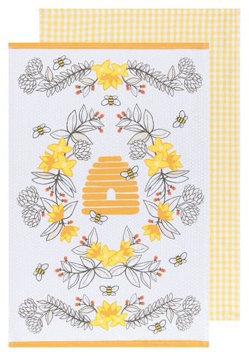 Bees Dishtowels Set/2