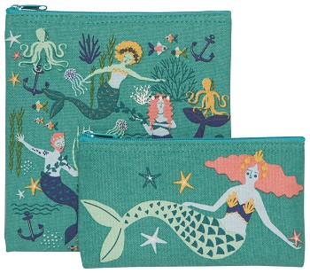 Mermaids Snack Bag Set of 2