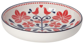 Stamped Shallow Bowl 7inch Bird